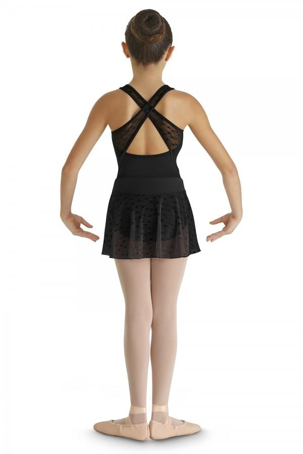 Bloch Durga Heart Mesh Skirt Child CR9351