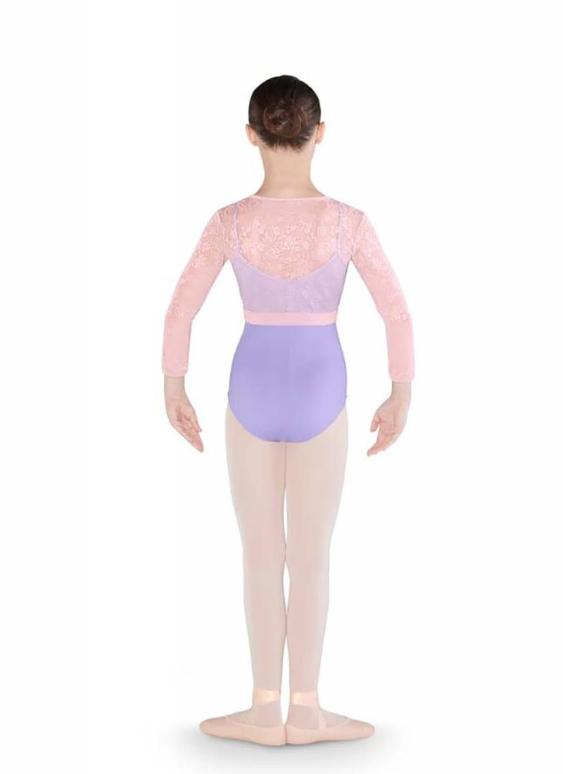 Bloch Mirella Flower Mesh Diamante Wrap Top Child M738C