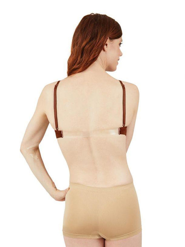 Capezio Sweetheart Clear Back Nude Bra Adult 3776W