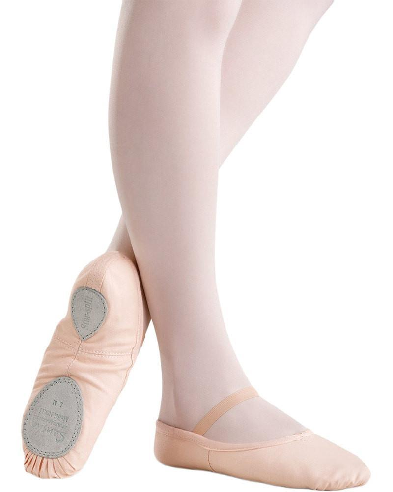 Sansha Star Canvas Split Sole White Ballet Shoe Child 15C