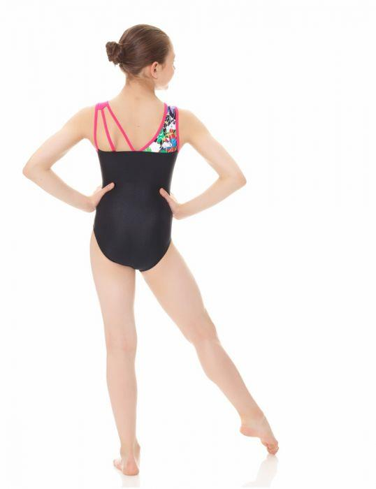 Mondor Vivid Hearts Print/Solid Gymnastics Leotard Child 7886