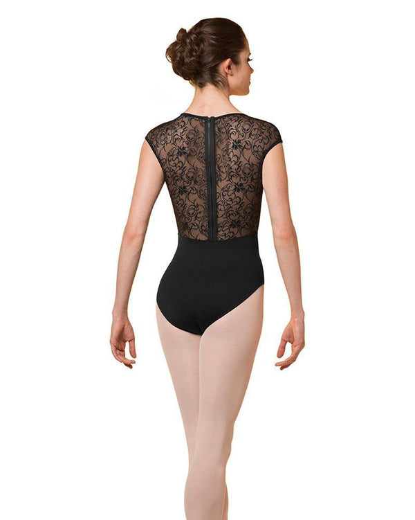 Bloch Mirella Zip Back Lace Cap Sleeve Bodysuit Adult M5071LM