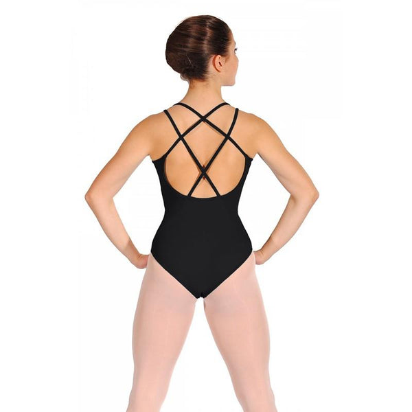 Bloch Mirella Origami Laser Cut Twin Strap Bodysuit Adult MJ7172