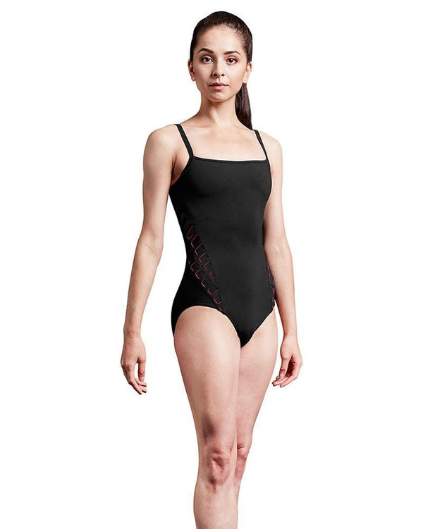 Bloch Mirella Laser Cut Cage Back And Side Camisole Bodysuit Adult MJ7204