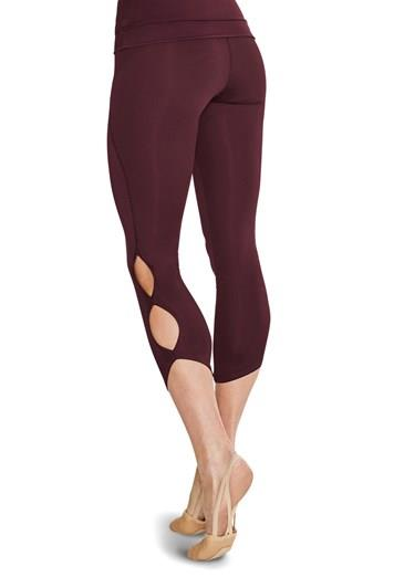 Bloch Keyhole 7/8 Length Leggings Adult FP5101