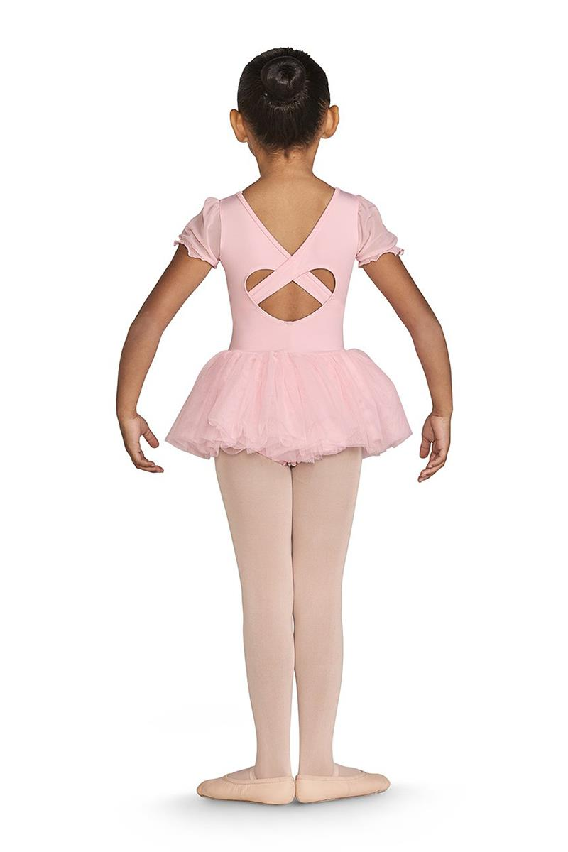 Bloch Amelia Heart Back Frill Sleeve Tutu Bodysuit Child CL5542