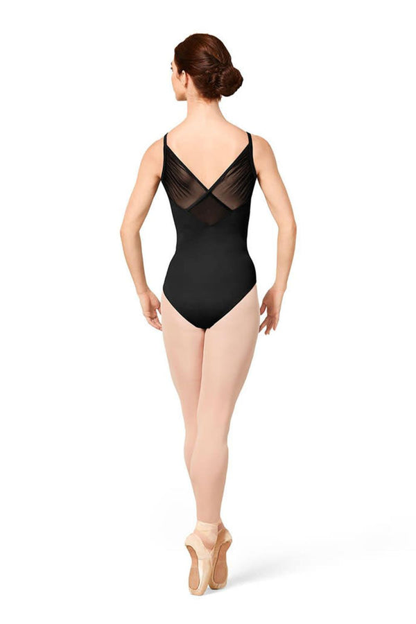 Bloch Mirella Gathered Wrap Back Mesh Bodysuit Adult M2173LM