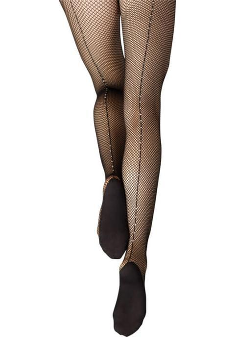 Capezio Professional Rhinestoned Fishnet Tights Adult 3002