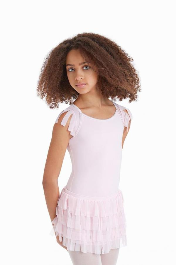 Capezio Baylee Mesh Fringe Skirt Child 10899C