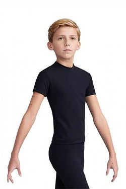 Capezio Boys Fitted Crew Neck Top Child 10358B