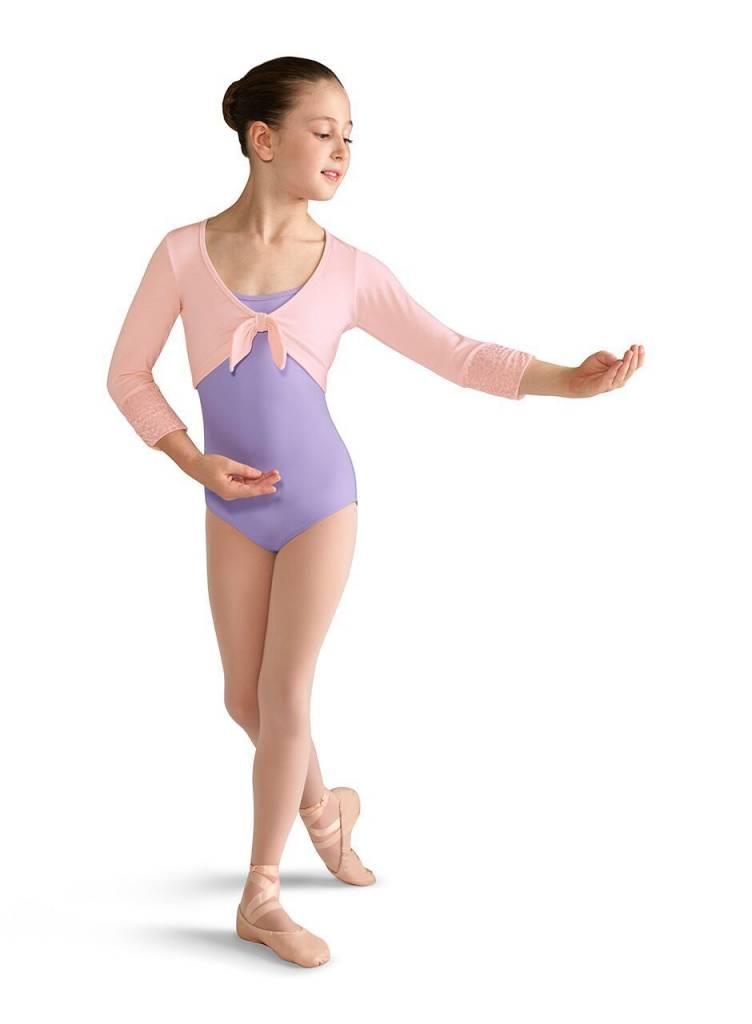 Bloch Mirella Tie Front ¾ Sleeve Wrap Top Child M736C