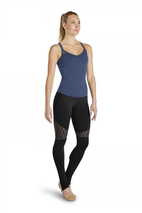 Bloch Diamond Flock Mesh Stirrup Legging Adult FP5044
