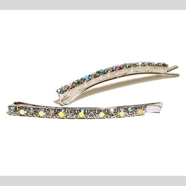 FH2 AB Rhinestone Slide Barrette Hair Pin AY0001