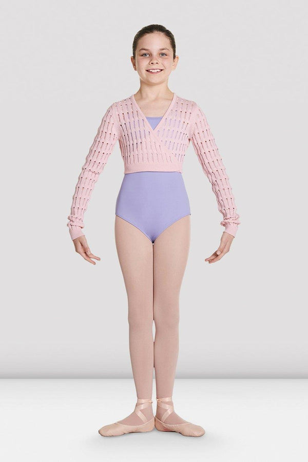 Bloch Stefania Knitted Long Sleeve Wrap Top Child CZ5549