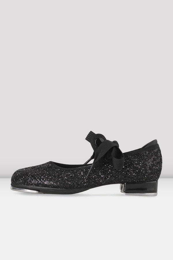 Bloch Glitter Black Tap Shoe Child S0351G