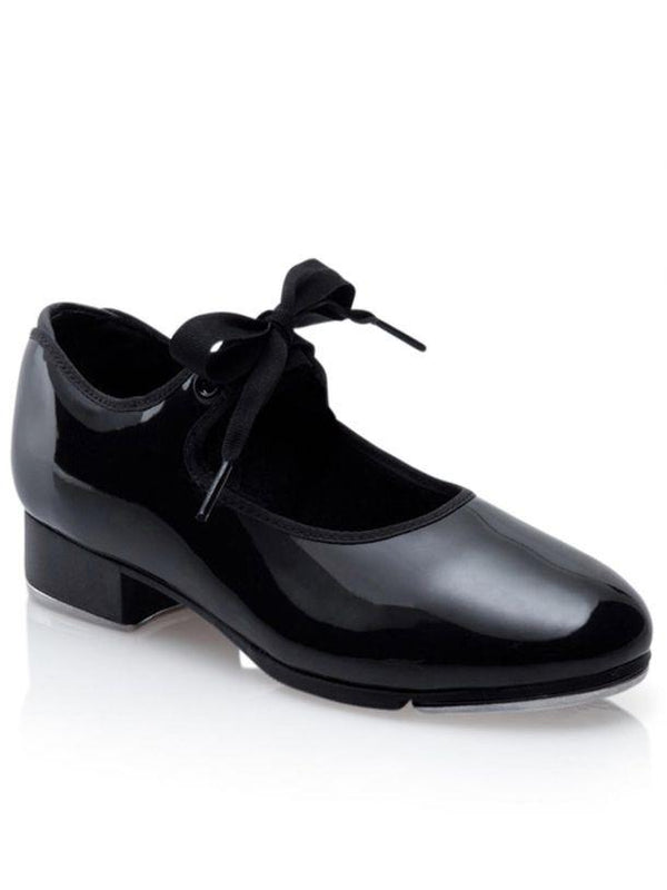 Capezio JR Tyette Black Patent Tap Shoe Adult N625