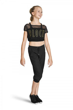 Bloch Perforated Crop Pant Child FP5217C