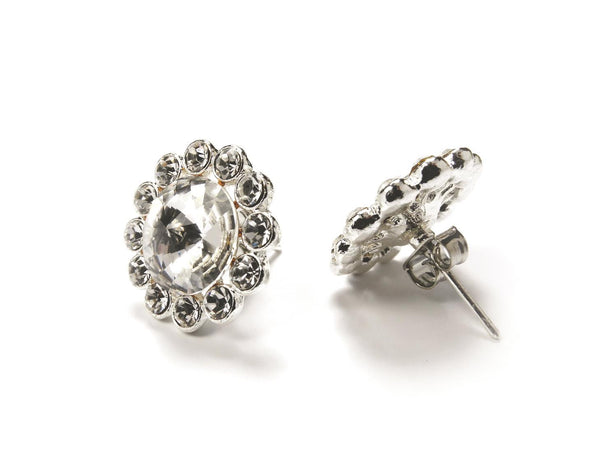 FH2 Crystal Flower Earring Pierced AZ0049
