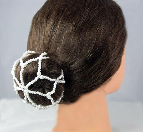 ES Beaded Cream Ballet Bun Cover 1774-13