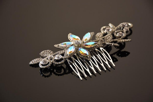 FH2 AB and Crystal Flower Hair Comb CO0302
