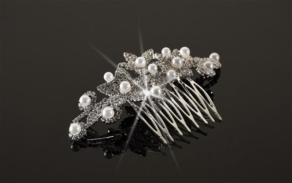 FH2 Crystal and Pearl Hair Comb CO0306