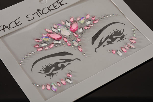 FH2 Pink Jewel Face Sticker FJS002