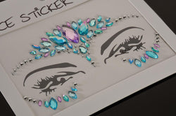 FH2 Light Blue Jewel Face Sticker FJS005