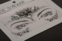 FH2 Grey Jewel Face Sticker FJS008