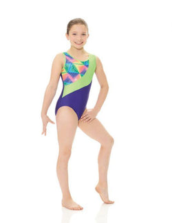 Mondor Art Deco Print/Solid Gymnastics Leotard Child 27886