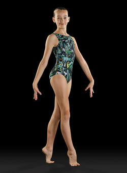 Bloch Techno Printed Gymnastics Leotard Child GB173C