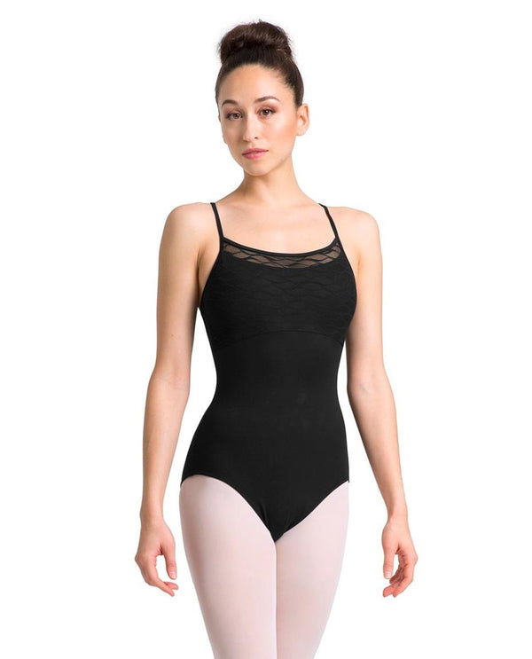 Bloch Mirella Wave Mesh Front Loop Back Camisole Bodysuit Adult M2147LM