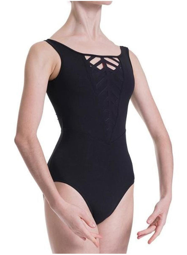 Bloch Mirella Front and Back Caged Laser Cut Panel Bodysuit Adult MJ7205