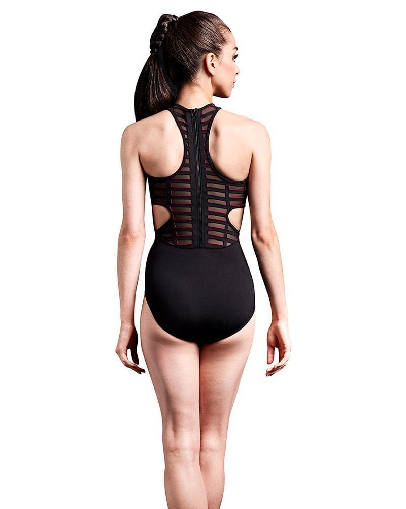 Bloch Mirella Cage Laser Cut Zip Back Tank Bodysuit Adult MJ7206