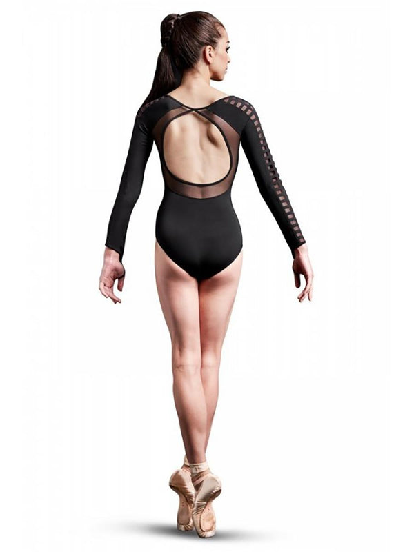 Bloch Mirella Laser Cut Mesh Long Sleeve Bodysuit Adult MJ7208