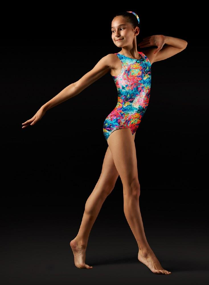 Bloch Nebula Printed Gymnastics Leotard Child GB145C