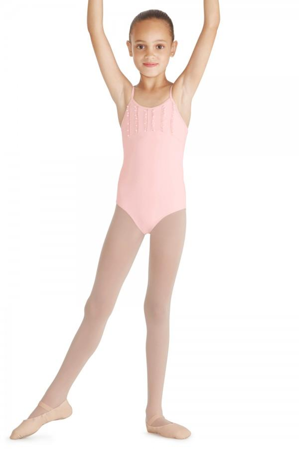 Bloch Mirella Frill Trim Camisole Bodysuit Child M390C