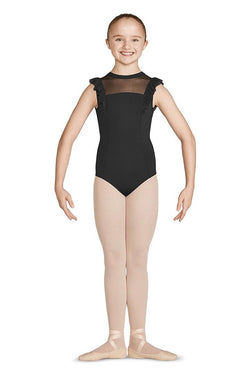 Bloch Mirella High Neck Frill Tank Bodysuit Child M470C