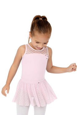 Capezio Sweet Pea Mesh Yoke Tank Bodysuit Child 11681C