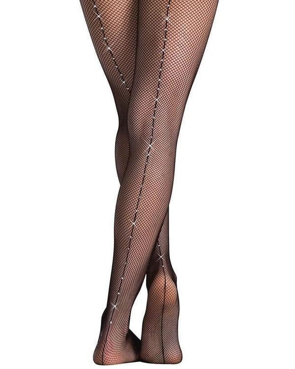 Body Wrappers Rhinestone Fishnet Tights Adult A64