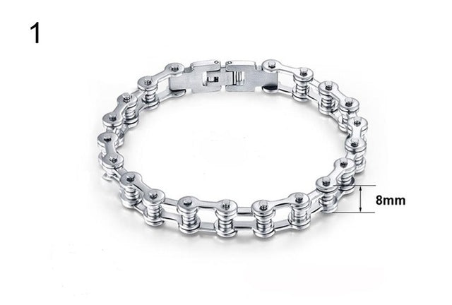 2019 Men's Stainless Steel Motorcycle Chain Bracelet