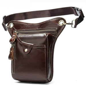 Genuine Leather Motorcycle Leg Drop Bag