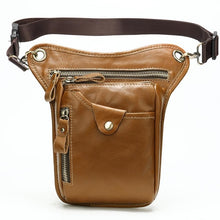 Load image into Gallery viewer, Genuine Leather Motorcycle Leg Drop Bag