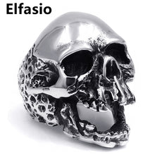 Load image into Gallery viewer, Mens Stainless Steel Ring Silver Skull Size 7-13