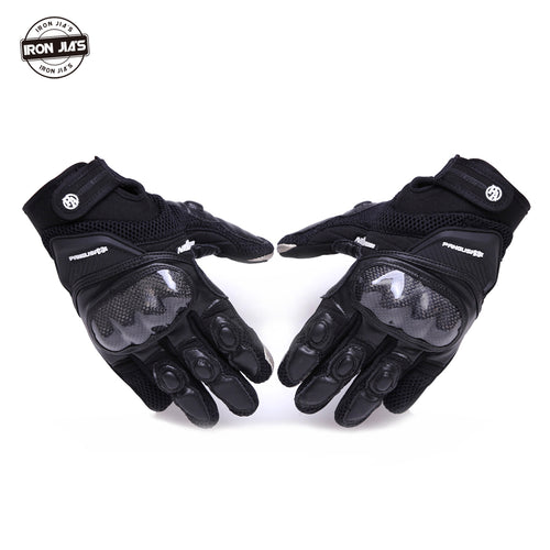 Motorcycle Gloves Leather Carbon Fiber