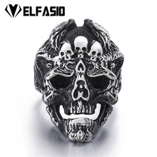 Load image into Gallery viewer, Mens Silver Skull Stainless Steel size 8-13