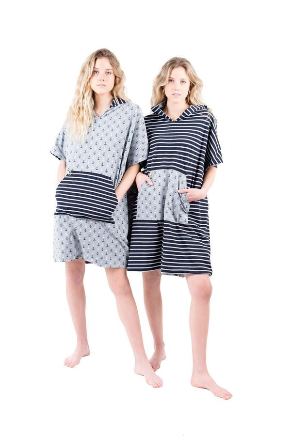 Striped Changer Beach Poncho