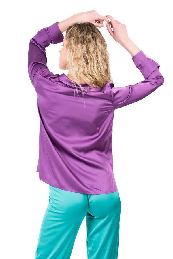 Purple Pijamas Blouse