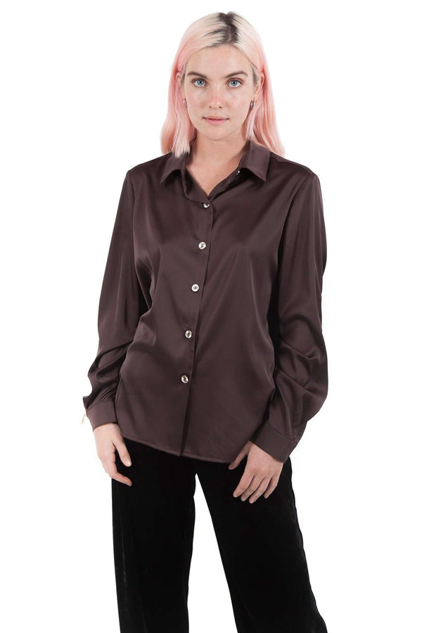 Bitter Chocolate Buttons Blouse