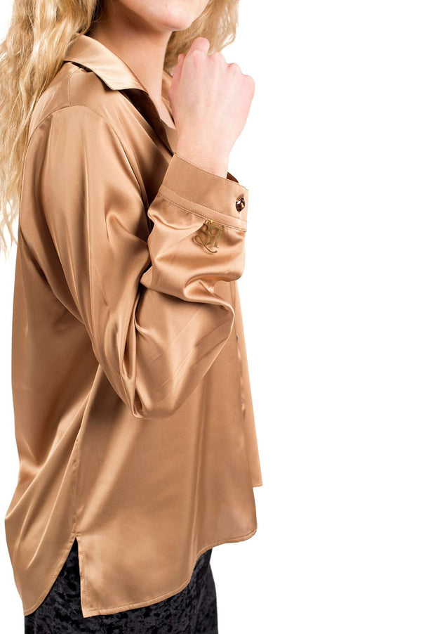 Gold Arena Buttons Blouse