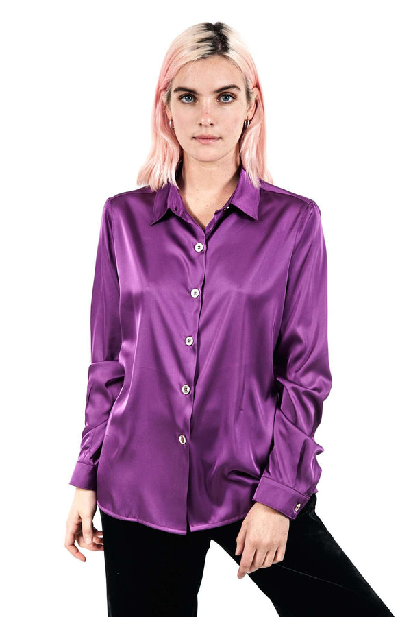 Purple Buttons Blouse